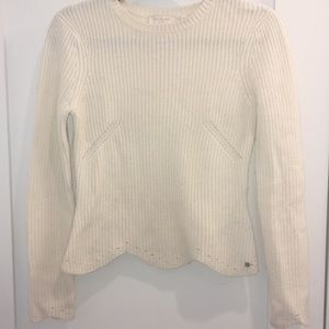 Ted Baker White Cropped Sweater